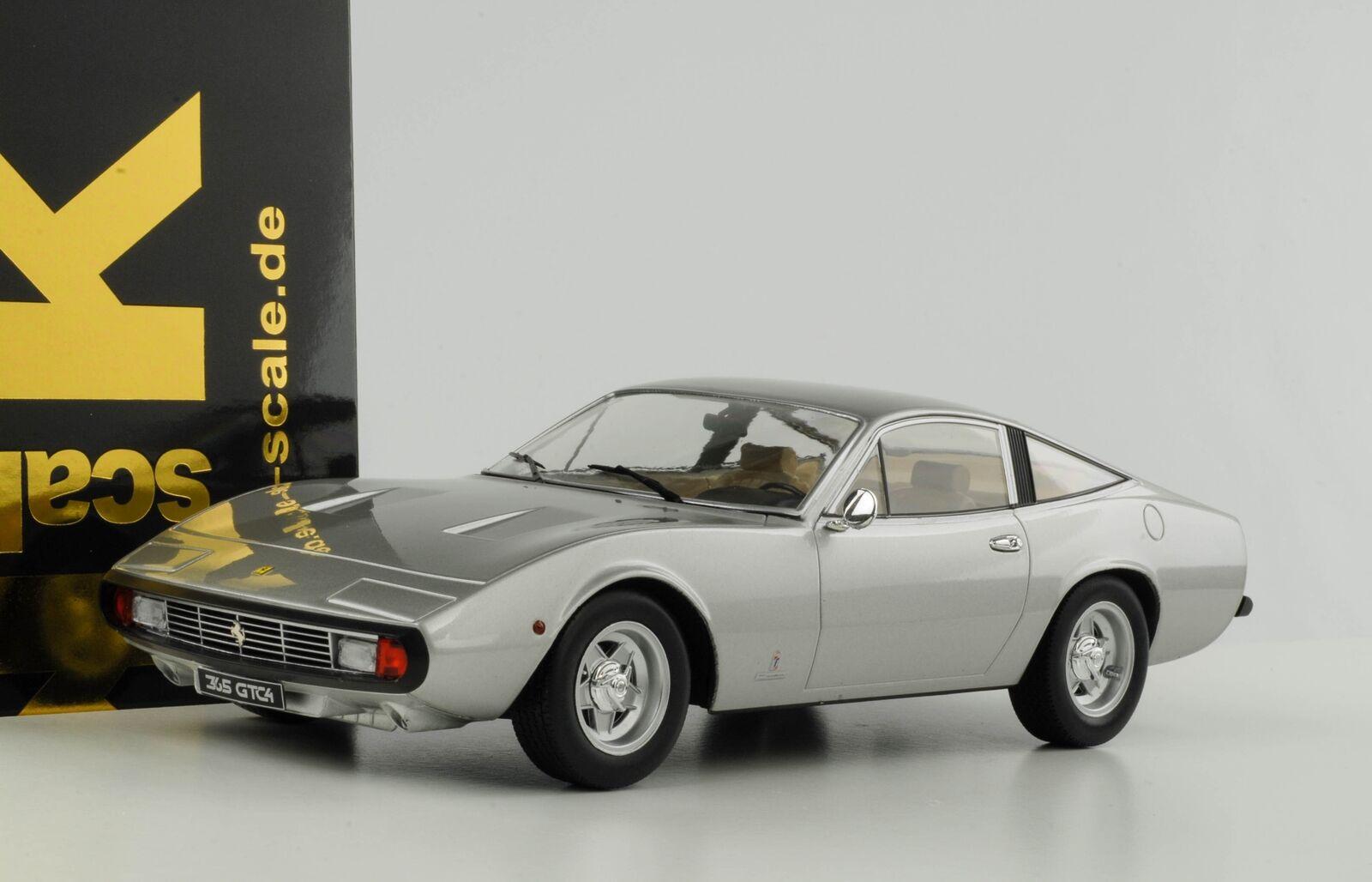 Ferrari 365 GTC 4 Coupe    - Il Gobbone - 1971 silver  1 18 KK diecast 3fe573