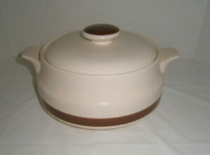 Woodhaven-Collection-Sandusky-Pattern-2-Qt-Round-Covered-Casserole-EUC
