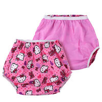 Kitty Pant Pink Pvc Lined Plastic Pants/cover Adult Baby Diapers Ab/dl & Ddlg
