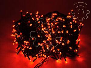 Serie-500-luci-di-Natale-a-led-rosso-40-mt-catena-con-8-giochi-per-esterno-e-int