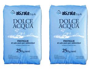 2 Sacchi Sale Per Addolcitore Pure In Pastiglie Confezione Da 25 Kg Une Grande VariéTé De ModèLes
