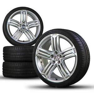 VW-19-in-SCIROCCO-CC-Jantes-ALU-Jantes-Talladega-Pneus-D-039-ete-Roues-D-039-ete