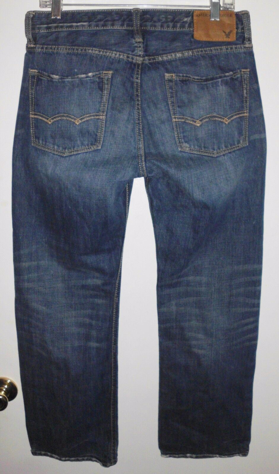 AMERICAN EAGLE Jeans Sz 30 Men's Distressed Low Rise Boot 100% Cotton bluee