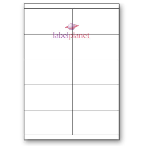A4 White Rectangle Self-Adhesive Permanent Laser//Inkjet Printable Label Planet®