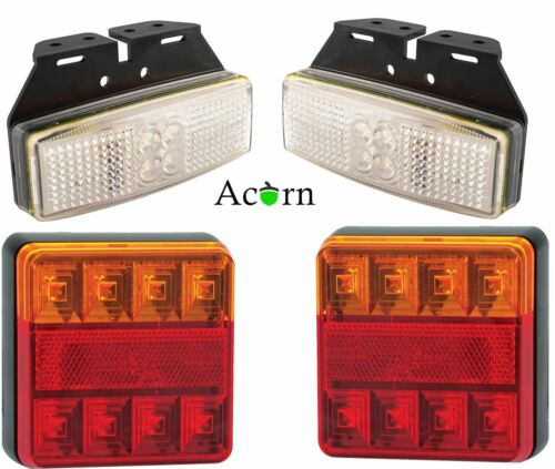 Rear  and Front 12 Volt LED Trailer Light Set 3 Years warranty