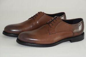 HUGO-BOSS-Business-Schuhe-Mod-Neoclass-Derb-bu-Gr-43-UK-9-Medium-Brown
