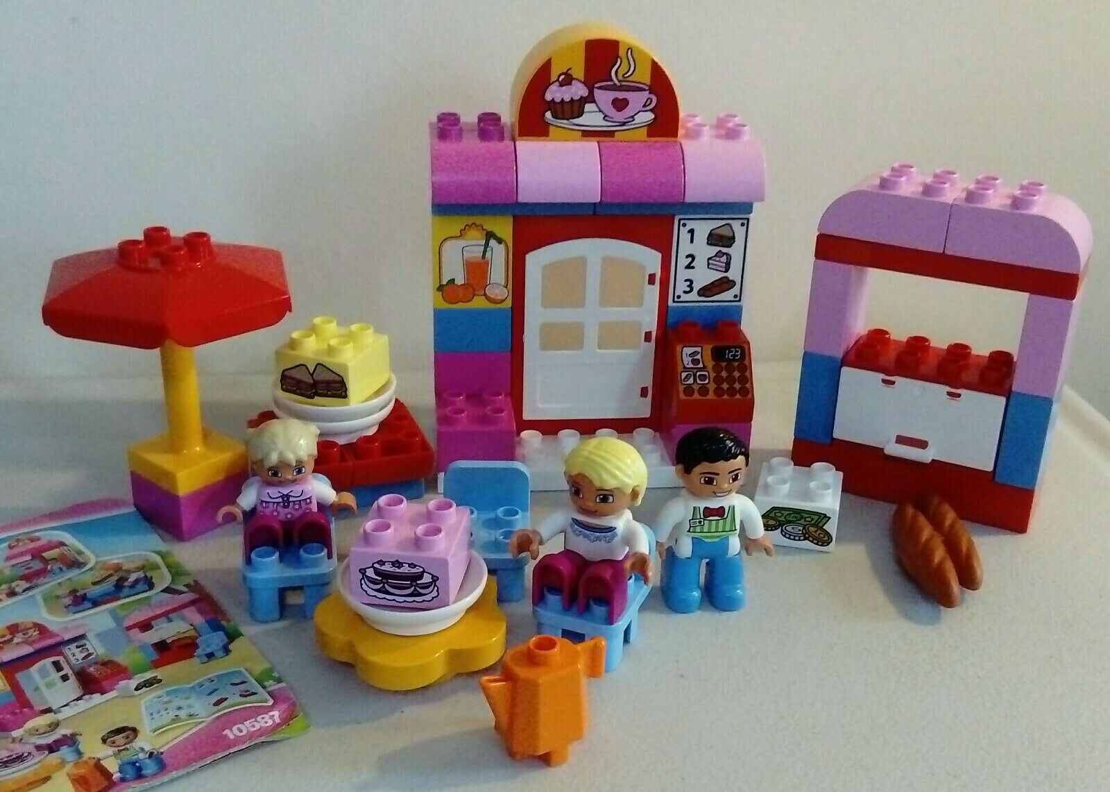 Lego Duplo Town Cafe Set Number 10587 100% Complete with Instructions