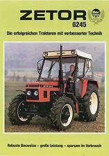 Prospekt Zetor 6245 1992 Schlepper Trecker Traktor brochure deutsch Landmaschine