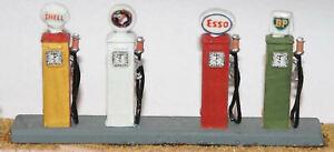 4-Retro-Petrol-Pumps-F115-UNPAINTED-OO-Scale-Langley-Models-Kit-1-76-Scenery