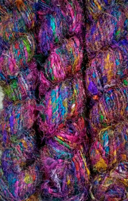 1 Quality Rercycled Soft Silk Sari Crochet Yarn 500gms.