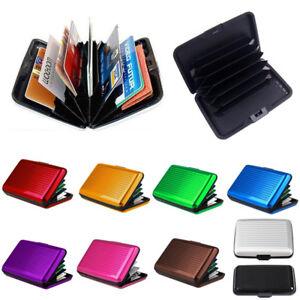 Aluminum Alloy Wallet RFID Blocking Waterproof Credit Card Holder Case Pocket
