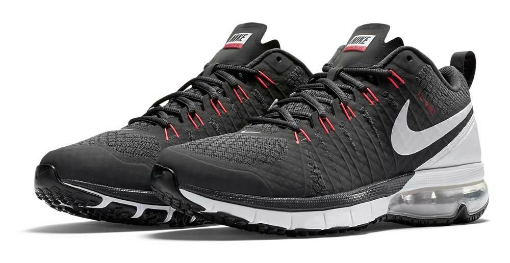 Nike 180 Air Max TR 180 Nike Gris Anthracite/Blanc/Rouge Homme Running Baskets _ 13 6e216a