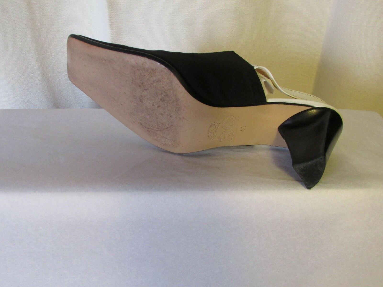 Escarpins Escarpins Escarpins IMMAGINI matière élastique blacke et cuir white 41 463428