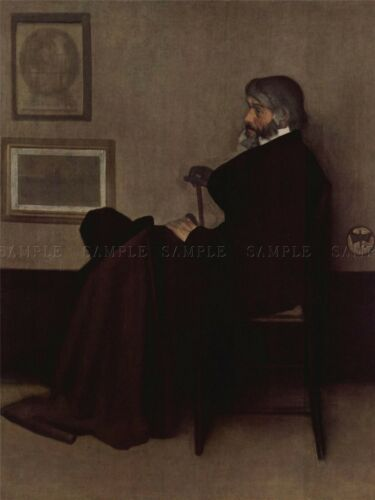 JAMES MCNEILL WHISTLER ARRANGEMENT IN GREY BLACK OLD ART PAINTING PRINT 1414OMA