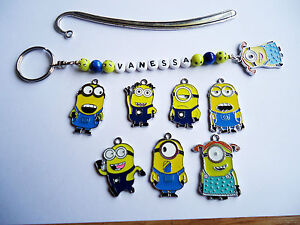 Personalised Despicable Me Minion KEYRING / BOOKMARK Gift ...