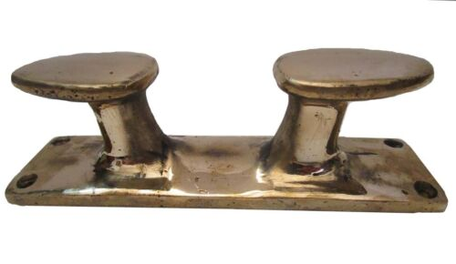 LARGE - Marine BRASS BOLLARD Boat Cleat - Nautical / Maritime (5196)