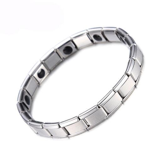 Herren Damen Magnetarmband Edelstahl Power Enegie Schmuck Armband Geschenk