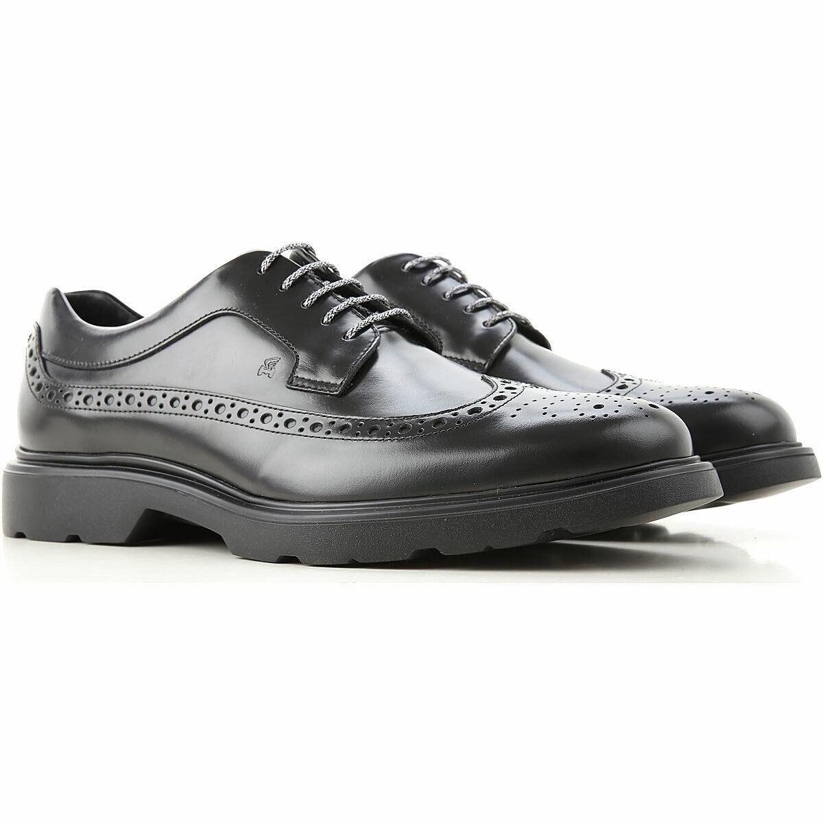 Hogan - Herren Schuhe mit Öffnungen Melone H393 Schwarz 6Q6B-ultime Paare ++ 30%