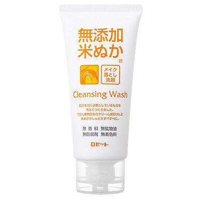 JAPAN Rosette NoAdditive Makeup-removing Rice Bran Face Wash 120g Free shipping