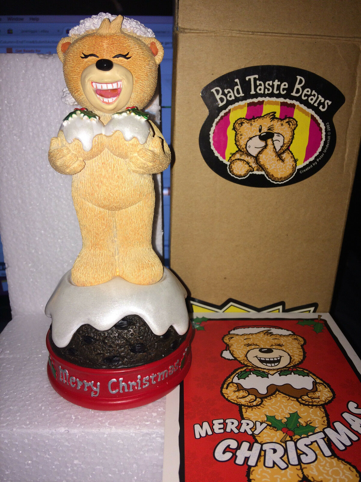 Bad Taste Bear Bear Bear Brandy Xmas edition 2003 rare item to hold 89831f