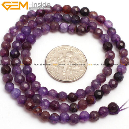 """4mm Round Gemstone Assorted Agate Spacer Loose DIY Beads For Jewelry Making 15/"""""""
