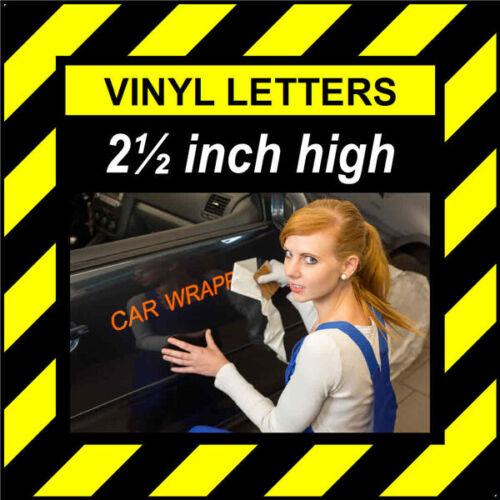 environ 6.35 cm 14 caractères 2.5 in 64 mm HAUTE PRE-espacés Bâton Sur Vinyle Lettres /& Chiffres