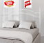 full/queen size bed frame metal white bed headboard modern bedroom furniture