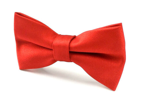 Mens Bowtie Solid Colour Bow Ties Wedding Business Groomsmen CHOOSE COLOR