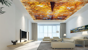 3D Autumn Tree Bird 4 Ceiling Wall Paper Print Wall Indoor Wall Murals CA Carly