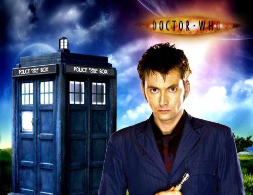 Black David Tennant Hoodie Tardis 10 Dr Who Size 2XL The Doctor