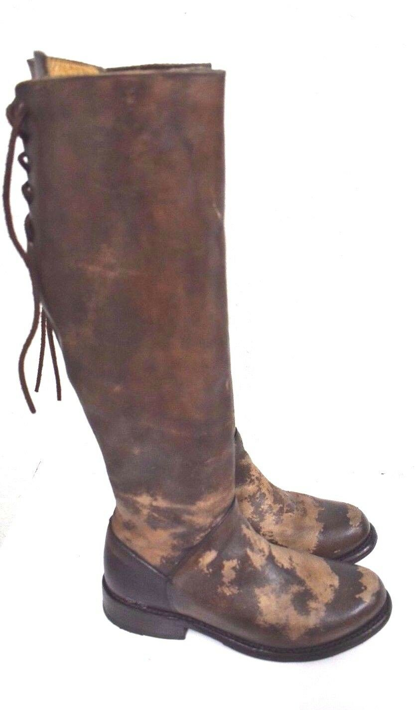 Bed Stu Series Manchester Teak Glaze Cobbler Series Stu Tall Lace Up Leder Stiefel :6.5  #1 3dd037
