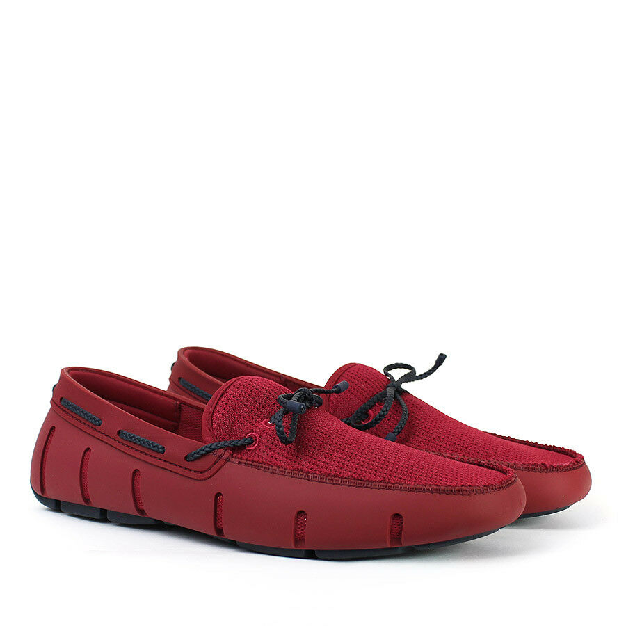 Swims - Braided Lace Loafer in Deep ROT/Navy - - Größe UK 7 - ROT/Navy 754367