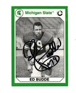 Ed Budde Michigan State MSU Spartans football signed card Kansas City Chiefs