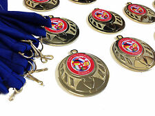 20 x Football Medals. Man of the match. Personalised logo + CHOICE of Ribbon