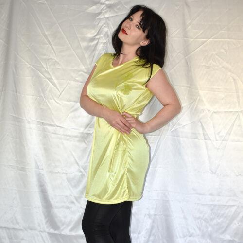 nass glänzendes LONGSHIRT weich /& stretchig* Oberteil* Tunika* Minikleid  M-XL