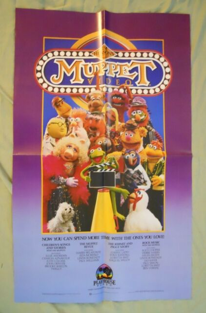 THE MUPPETS VIDEO ~ VIDEOCASSETTE (VHS) RELEASE POSTER ...