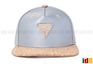 Image is loading Hater-Snapback-3M-Silver-Reflective-With-Cork-Brim- 83ae78052d17