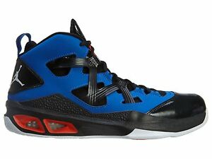 new concept 17b8b cd490 Details about Nike Jordan Melo M9 Mens 551879-407 Black Game Royal  Basketball Shoes Size 9