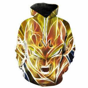 Women//Men Dragon Ball Z Goku Vegeta 3D Print Casual Hoodie Pullover Sweatshirt H