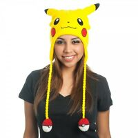 Pokemon Pikachu Big Face Laplander With Pokemon Pokeballs (great Hat & Gift)