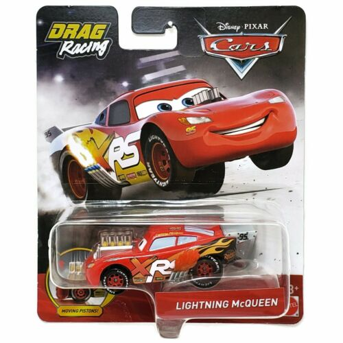 Disney Pixar Diecast CARS XRS Drag Racing Moving Pistons Lightning McQueen GFV34