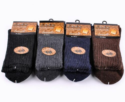 Lot Pairs Mens Warm /& Soft Comfort Wool Cashmere Dress Sock Winter Thick Socks