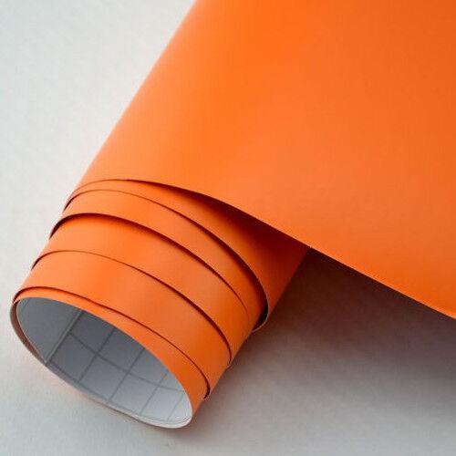 car wrap Film Orange Mat les gaines 9,18 €//m² bulles mouvement premium voiture