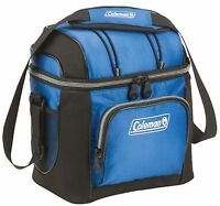 Coleman 9-can Soft Cooler With Hard Liner Blue