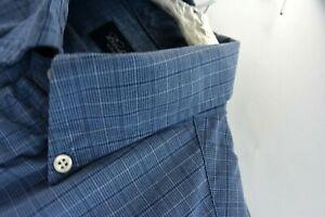 Brooks-Brothers-Mens-Dress-Shirt-Blue-Plaid-Long-Sleeve-Size-Small