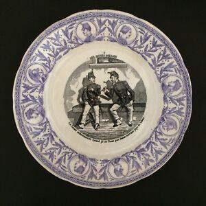 Assiette Parlante Xixème Militaire Opaque De Sarreguemines/french Military Plate Aa62zfyk-07232235-723403017