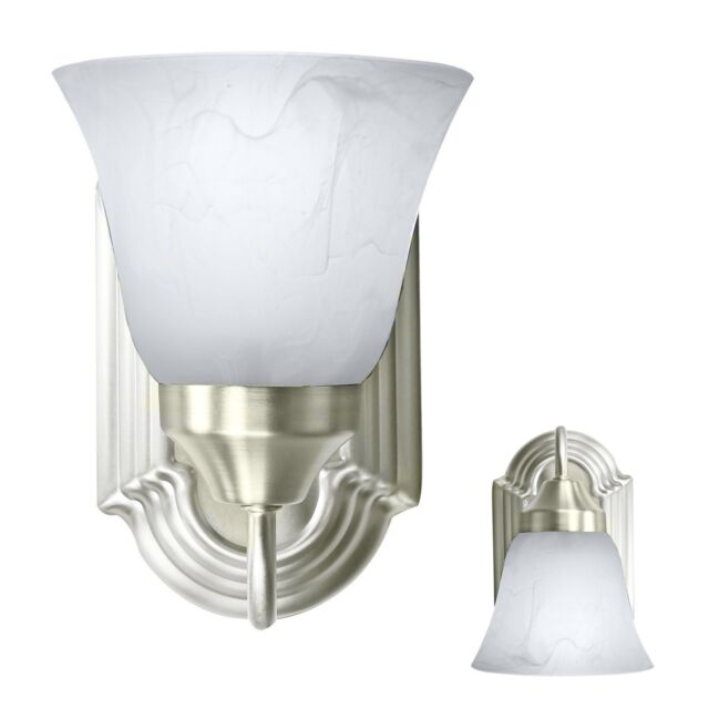 Brushed Nickel Wall Sconce Light Fixture Interior Lighting Single Light Room