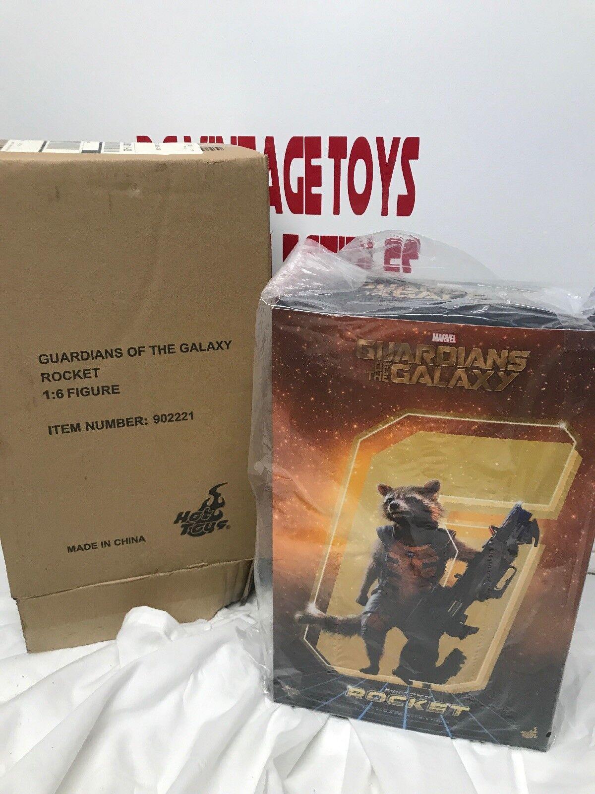 Guardians of the Galaxy Rocket 1 6 escala HOT TOYS figura GotG