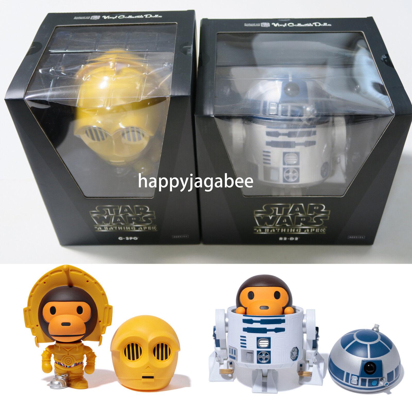 A BATHING APE x estrella guerras  bambino MILO VCD C-3PO R2-D2 cifra Sets Goods Japan nuovo  autorizzazione