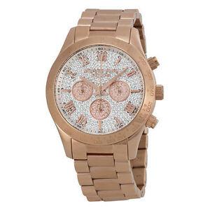 9a36bfa46229 Michael Kors Layton Pave Dial Rose Gold-tone MK5946 Wrist Watch for Women
